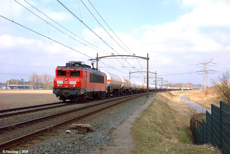 DBC 1615 met gasketeltrein trein 61071 Wieldrechtse Zeedijk