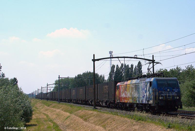 V 189-1 containertrein Wieldrechtse Zeedijk 26.05.2018