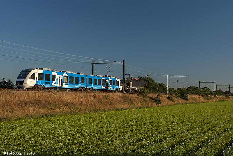 RFO-189208+Keolis-36 als trein 63101 (Amf - Whz) Hillegom 05.08.2018